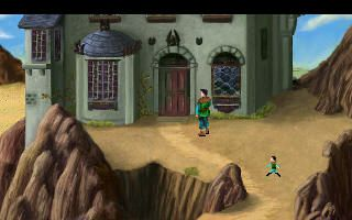 screen image of the Kings Quest III remake