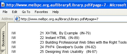 image of the Melb PC User Group Library listing file