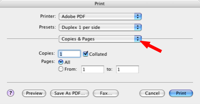 Image of the Firefox Print dialog box